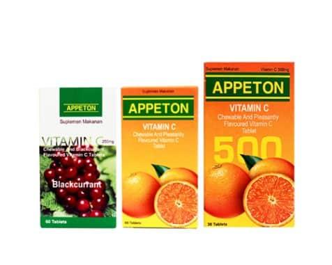 merk vitamin untuk daya tahan tubuh dewasa Appeton Vitamin C