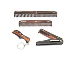 Handmade-Folding-Pocket-Clip-Hair-Moustache-Beard-Comb